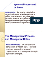 The Management Process and Managerial Roles