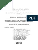 Inventario de Los Rr Nn Cuenca Chancay-lambayeque