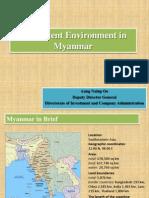 Investment Environment Myanmar