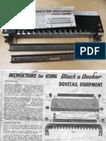 B&D Dovetail Jig