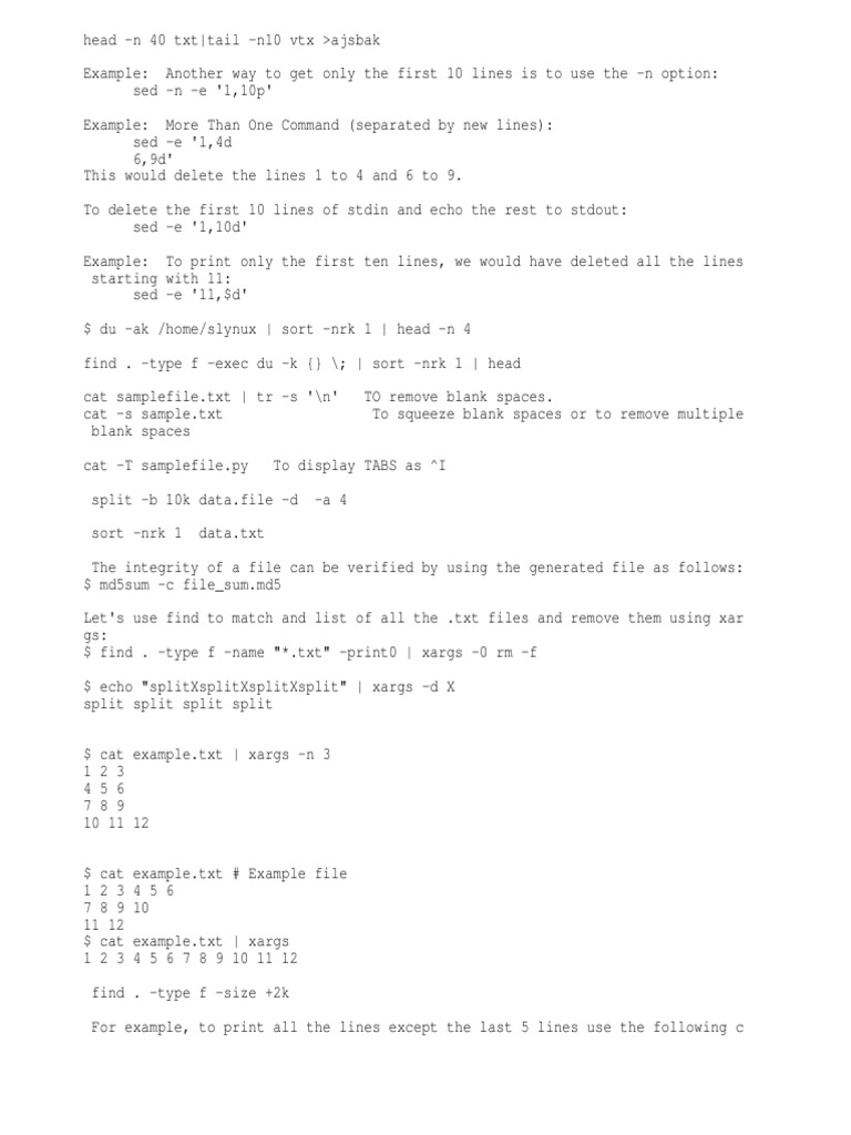 Xargs Example Choice Image Example Cover Letter For Resume