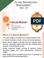 Sales Budget