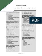 Questionnaire Renewable Energy