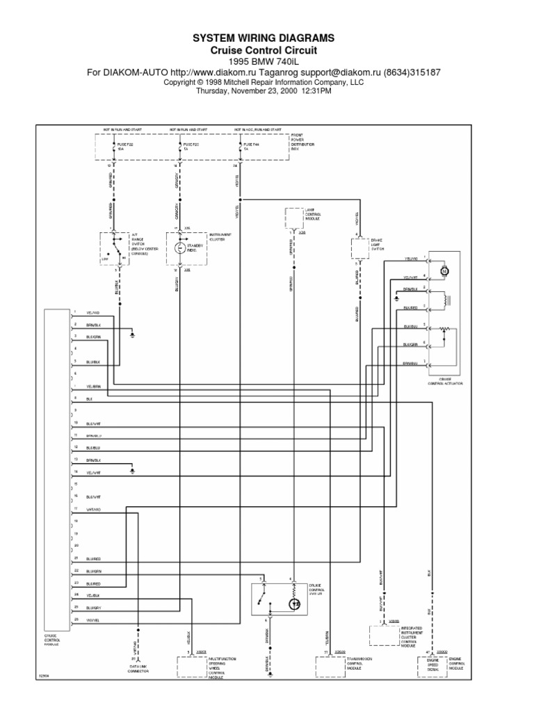 [CSDW_4250]   BMW E38 Schematic Cruise Control | Electrical Engineering | Technology | 1998 Bmw 740i Wiring Diagram |  | Scribd