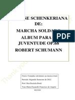Analise Schenkeriana Marcha Soldado ALbum Para a Juventude Op68 SchumannA