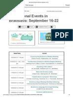 International Events Bratislava September 16-22