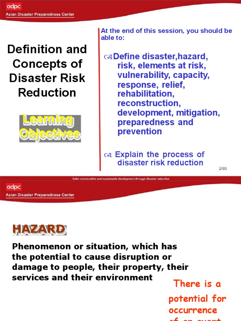 definition and concepts in disaster management | emergency