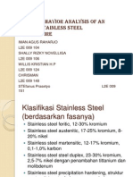 Corrosion behavior analysis of an austenitic stainless steelexposed to FIre