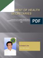 Department of Health Secretaries