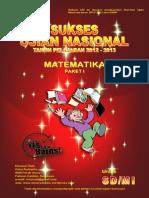 Soal Matematika - Persiapan UN SD - 1