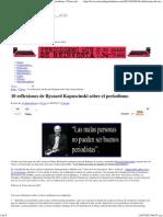 10 Reflexiones de Ryszard Kapuscinski Sobre El Periodismo _ Clases de Periodismo