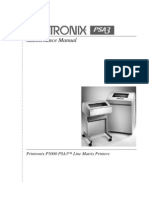 Printronix P5000 Line Matrix Printers Maintenance Manual