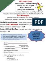 chicken dinner order form 2013