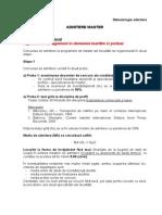 Metodologie admitere masterat UMC 2013 IMNP