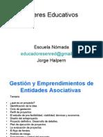 Talleres Educativos12_Gestión y emprendimiento de entidades asociativas