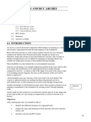 Masonry and RCC Arches | Masonry | Beam (Structure)