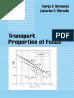 Transport Properties of Foods – G. D. Sanauacos & Z. B. Maroulis