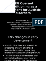 EEG Operant Conditioning as a Treatment for Autistic Disorders by Robert Coben