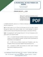 Projeto de Lei que Altera a lei nº. 1519 de 23 de dezembro de 2011 que Institui o Sistema Municipal de Cultura de Rio Pardo de Minas