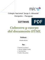 Cabecera y Cuerpo Del Documento HTML
