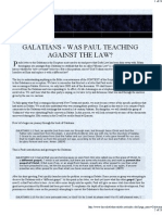 Galatians - Was Paul Teaching Against the Law?