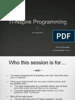 TI Nspire Programming