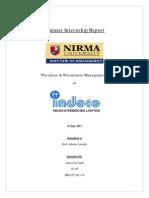 Summer internship at Indoco Remedies Ltd