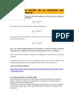 Cálculo de la sección de un conductor por pérdida de potencia