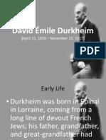 David Émile Durkheim