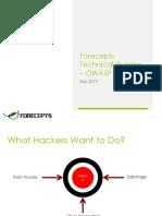 Forecepts Tech Sharing OWASP Top 10 (2013)
