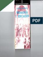 Pedagogía y educación