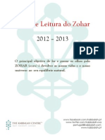 Guia Leitura Do Zohar PORTUGUES 2012 2013