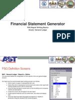 AST Financials Statement Generator