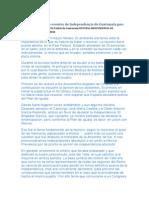 Descripcion Sucesos Independencia Guatemala
