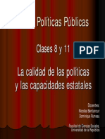 Calidad de Las Politicas Publicas