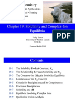 19. Solubility and Complex-Ion Equilibria