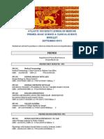 AUSOM Booklist September 2013
