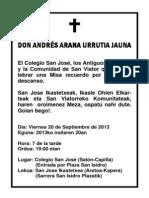 DON ANDRÉS ARANA JAUNA