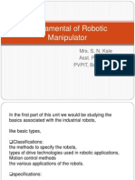 Fundamental of Robotic Manipulator