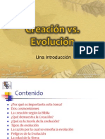 Creacion vs Evolucion Introduccion