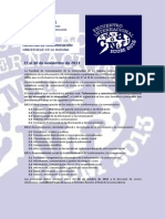 Convocatoria ICOM 2013