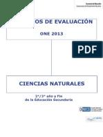 Criterios de Ciencias Naturales 2-¦-3-¦ y FIN Secundaria