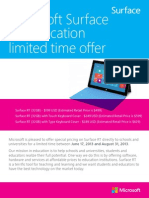 Surface in Education Brochure and Order Form