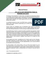 NP-COMITE DE CAMPAÑA #LISTA1 -AP 001-2013