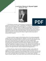Commentary on István Mészáros