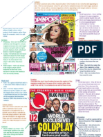 Media - 3 Music Magazine Front Covers Research