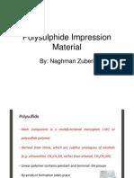 Polysulphide Impression Material