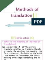 Methods of Translation, bound and open translation