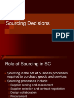Sourcing Decision