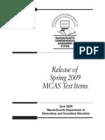 Massachusetts State Test for Grade 3 Sample